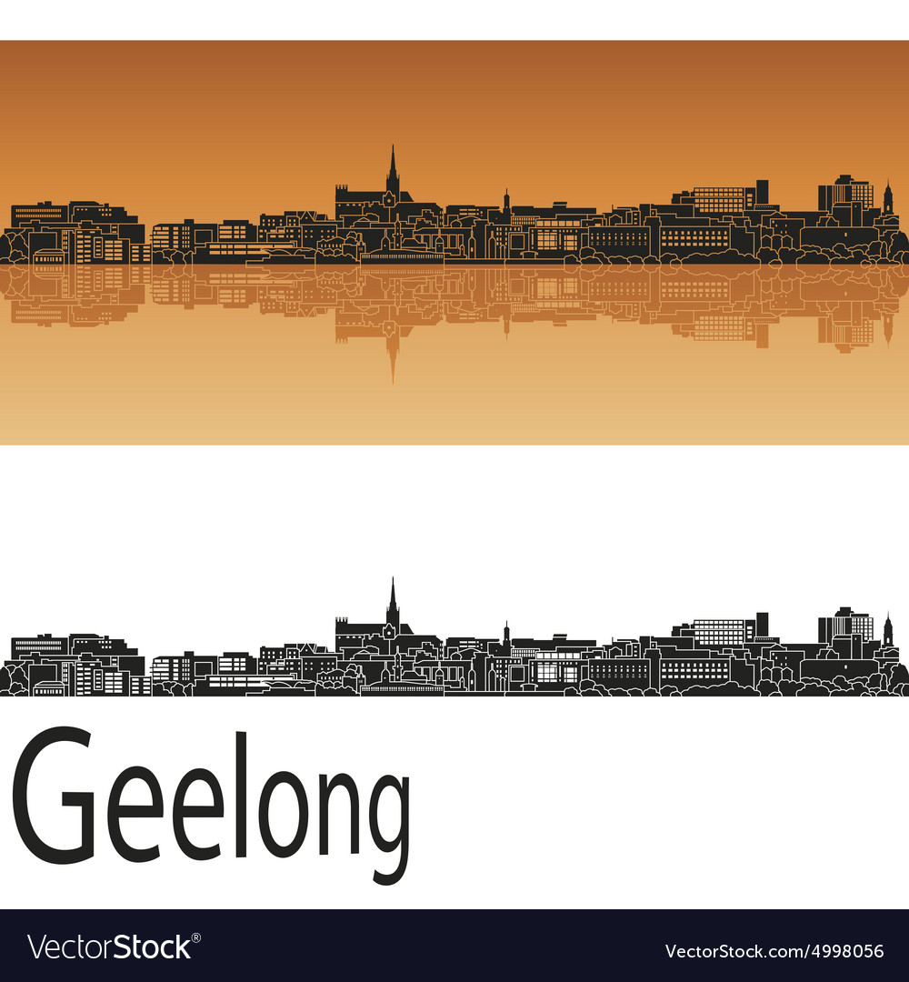 Geelong skyline in orange