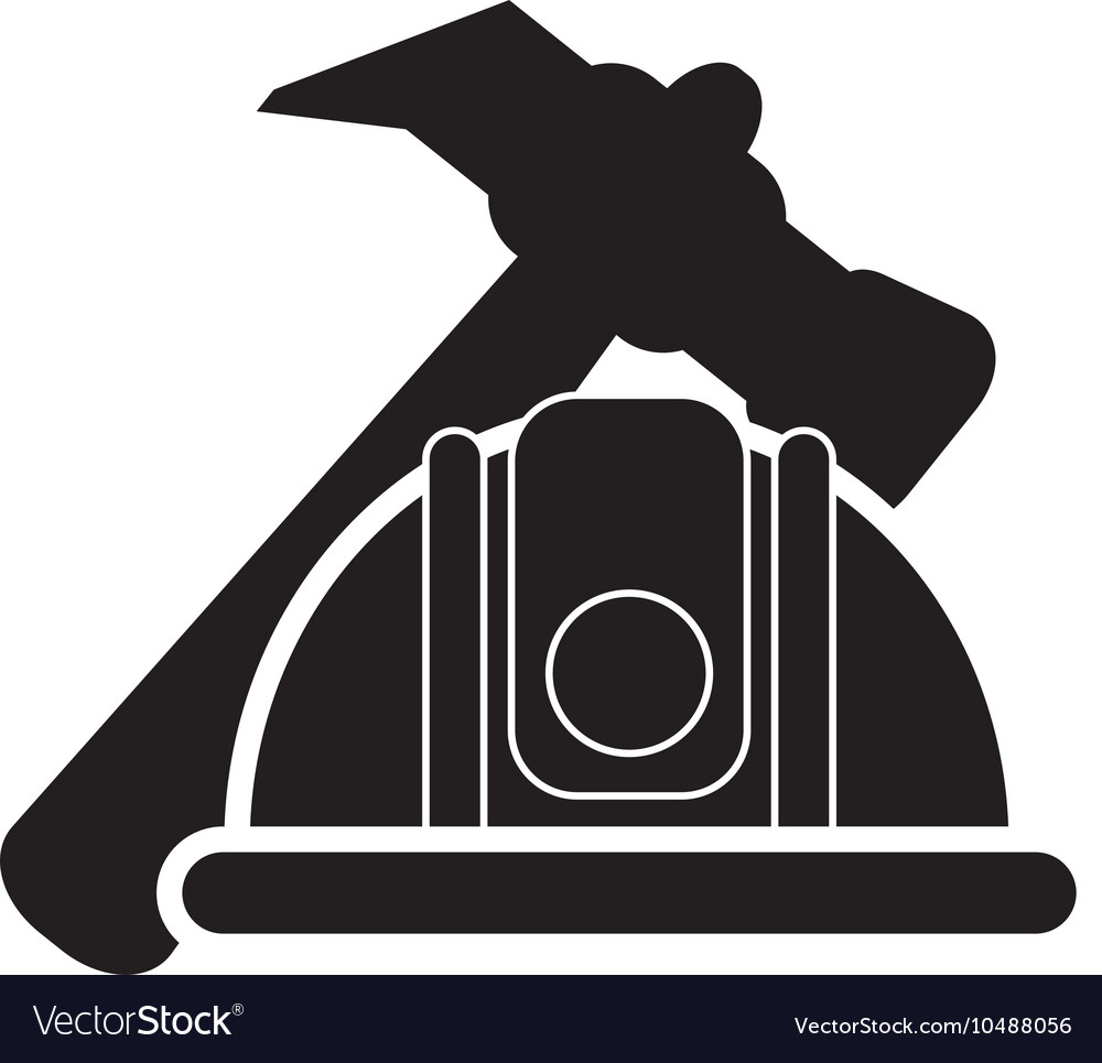 Hammer and helmet icon