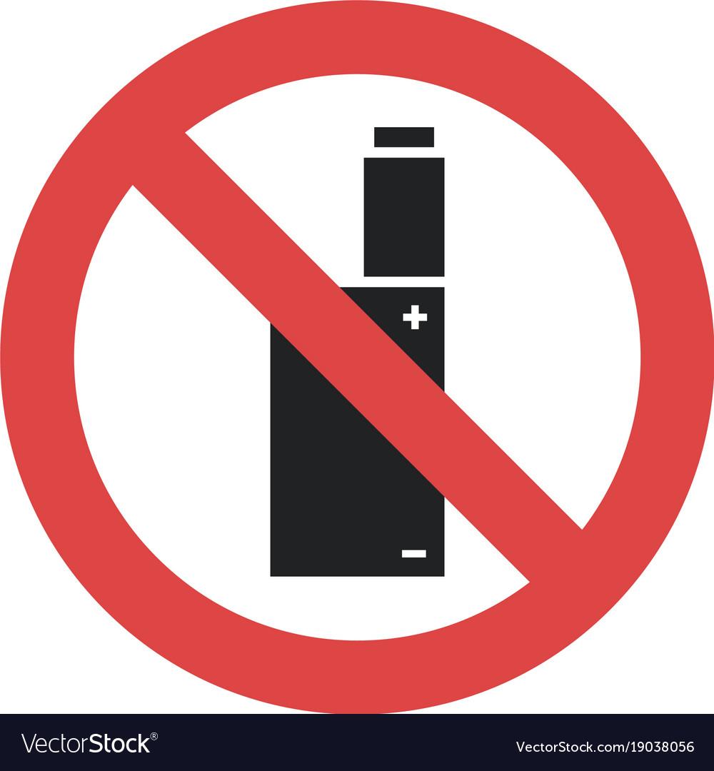 Symbol - vaping forbidden smoking