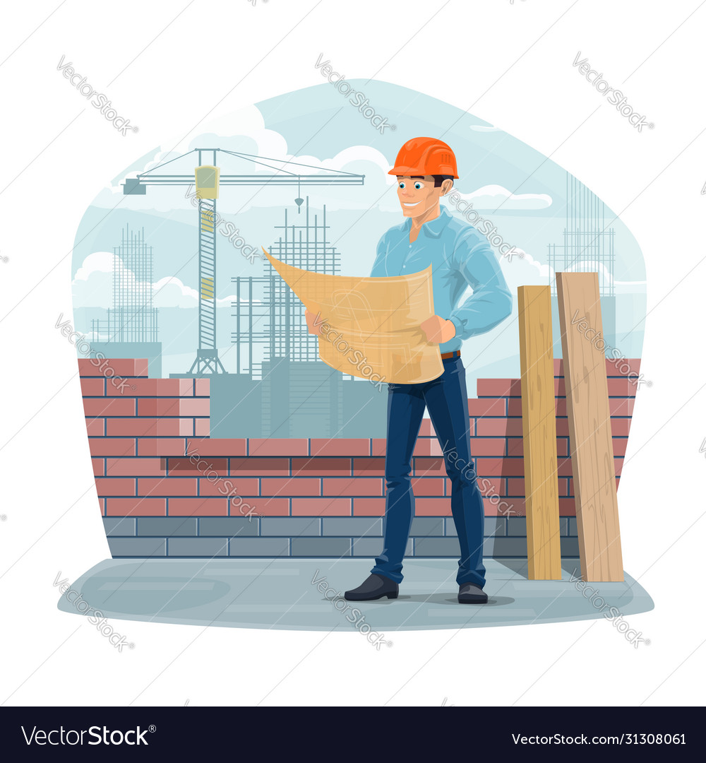 Architect engineer or foreman construction site