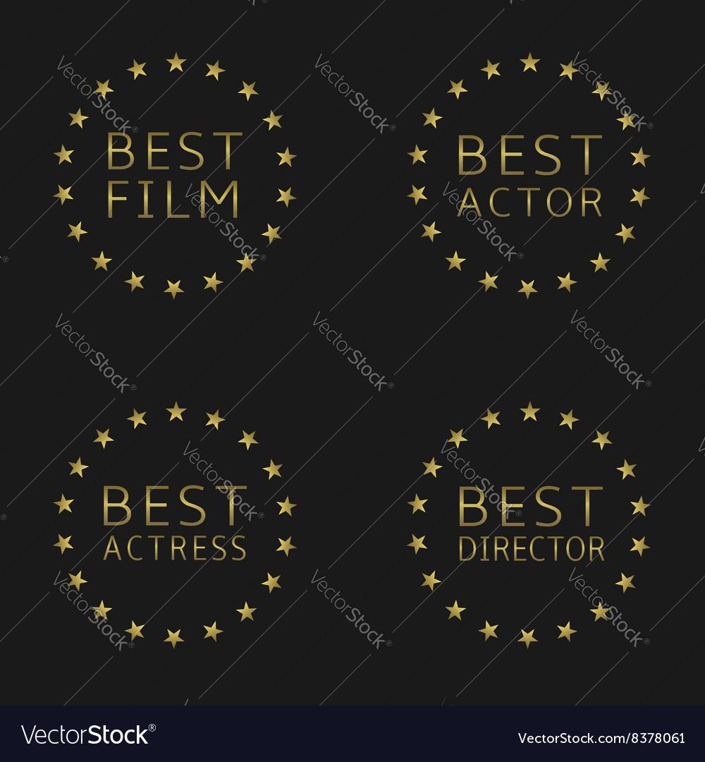 Best film labels vector image