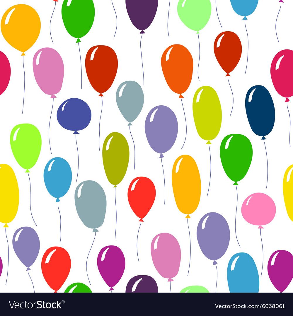 Bright colored ballons background Seamless pattern