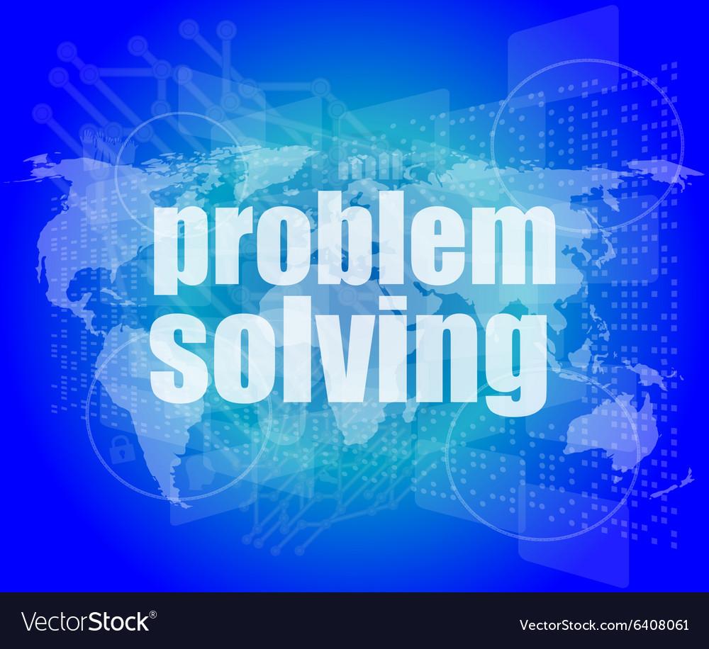Business concept words problem solving on digital