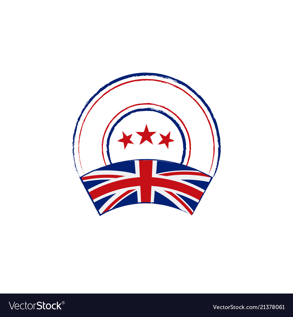 English flag retro stamp