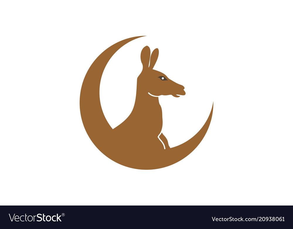 Kangaroo icon simple flat symbol
