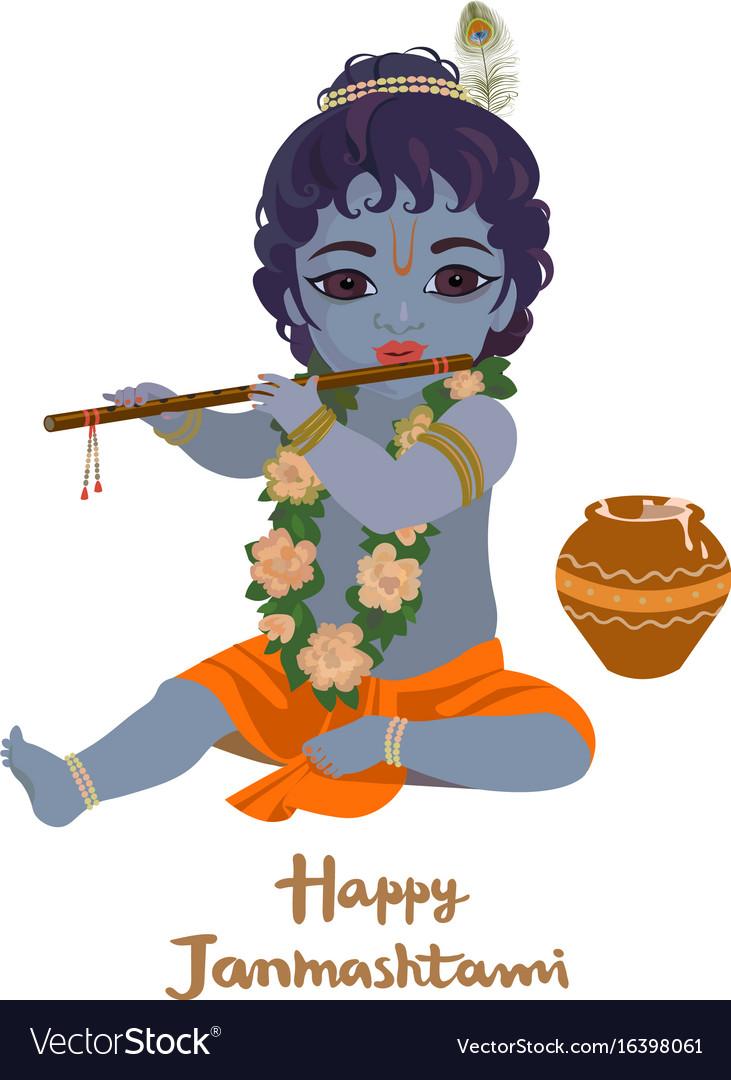 Krishna janmashtami greeting card