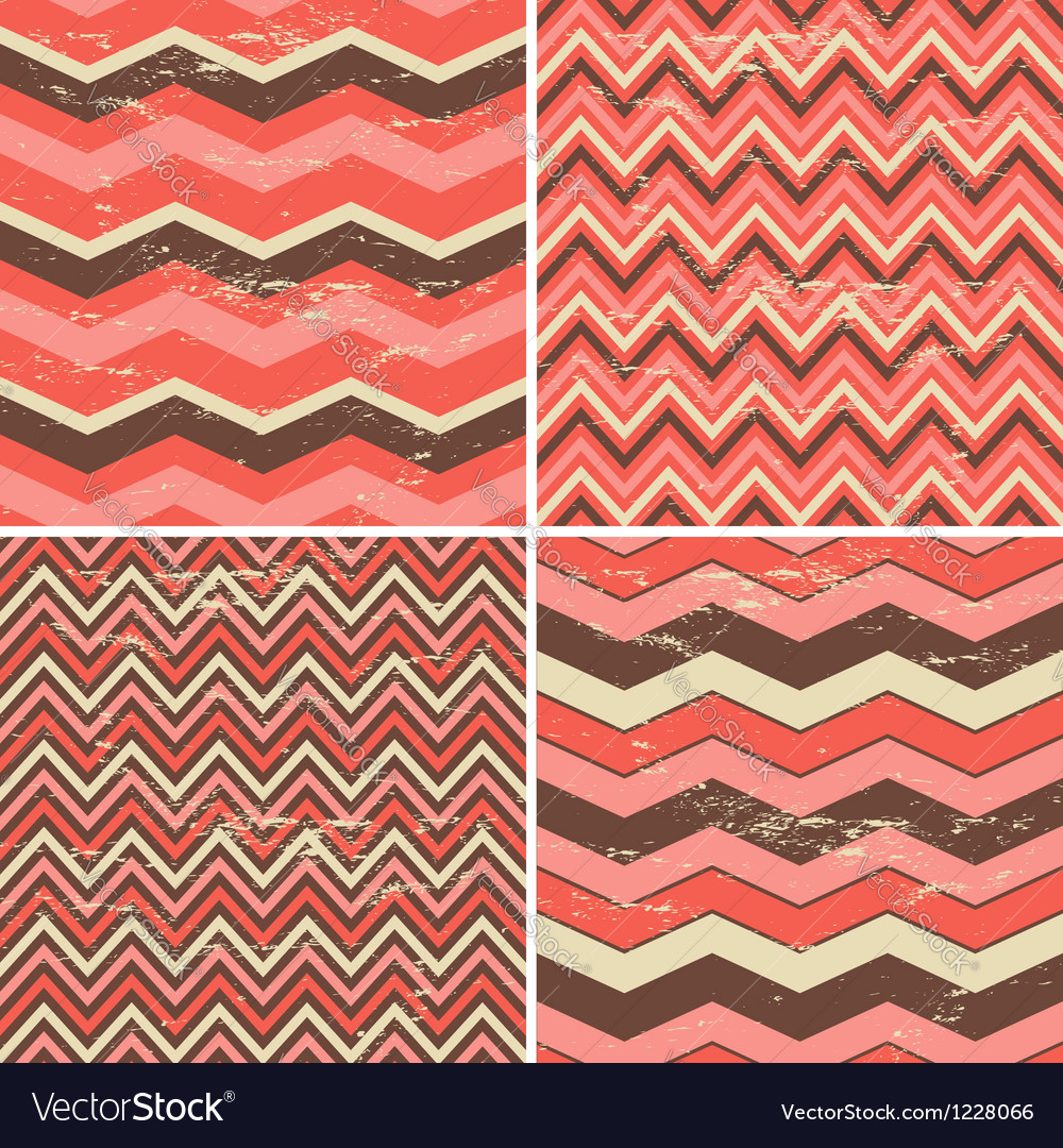 Chevron patterns set vector image