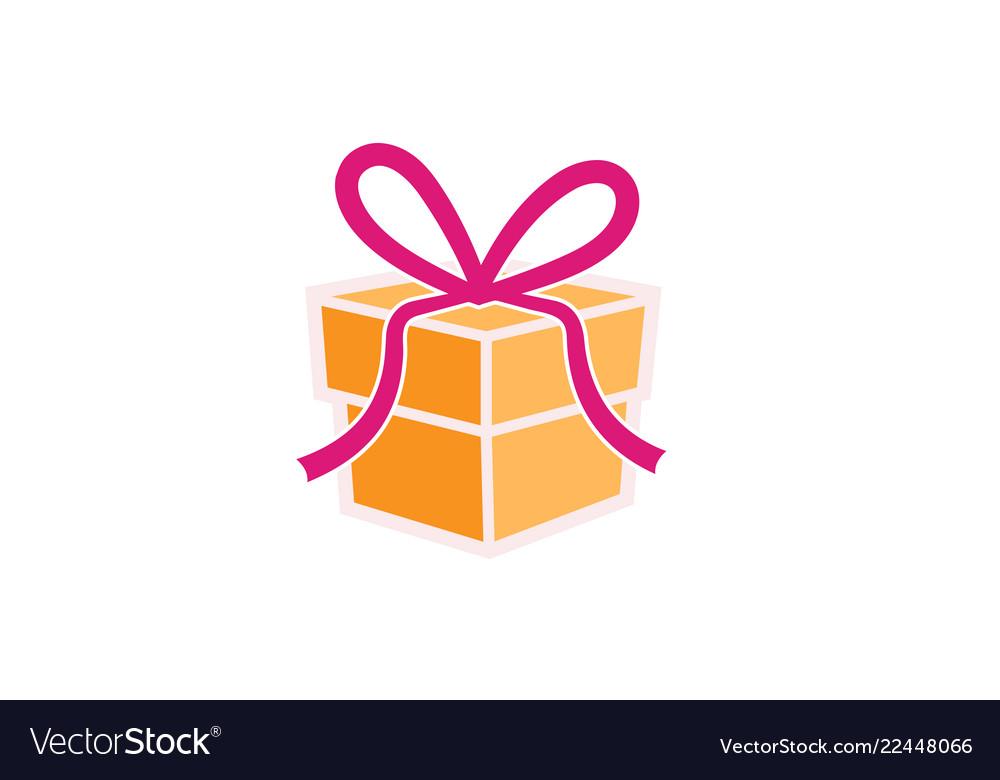 Creative Gift Box Logo Royalty Free Vector Image