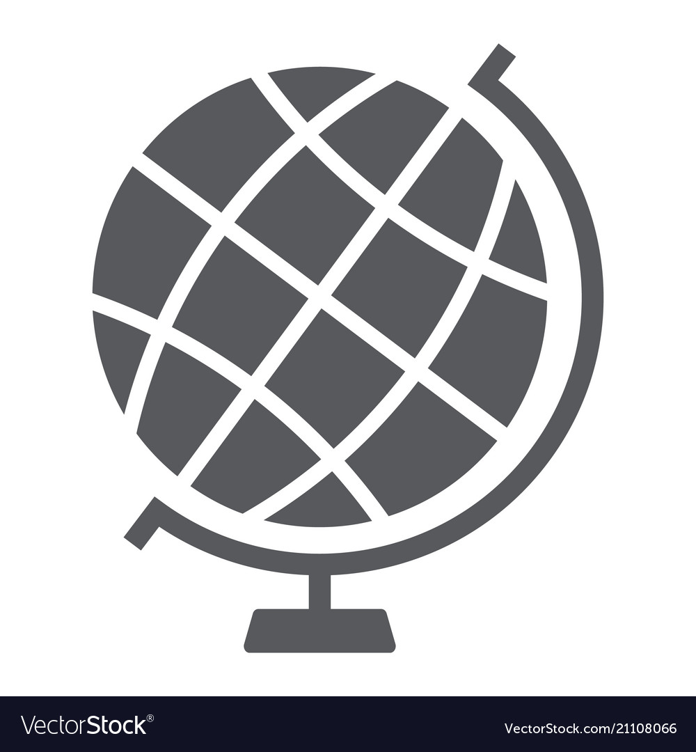 Globe glyph icon earth and world geography sign