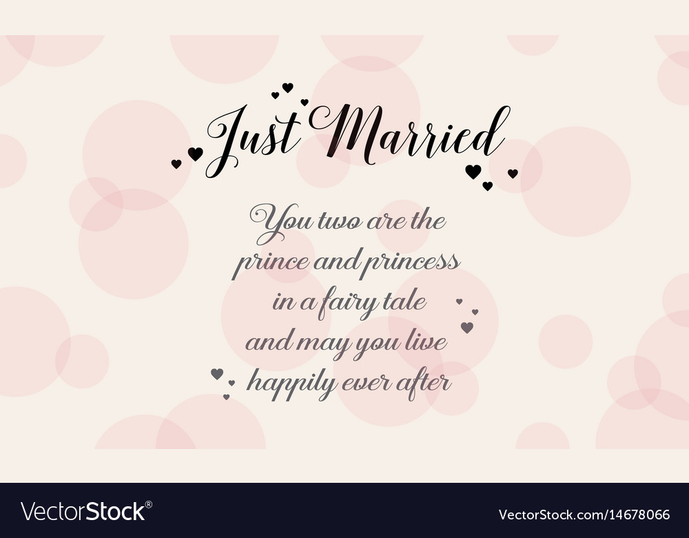 Happy wedding style background greeting card vector image m4hsunfo