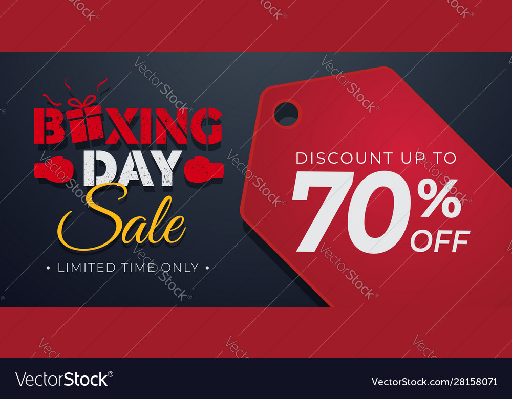 Boxing day sale background with price tag
