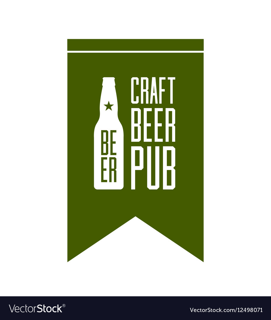 Craft beer pub logo concept isolated