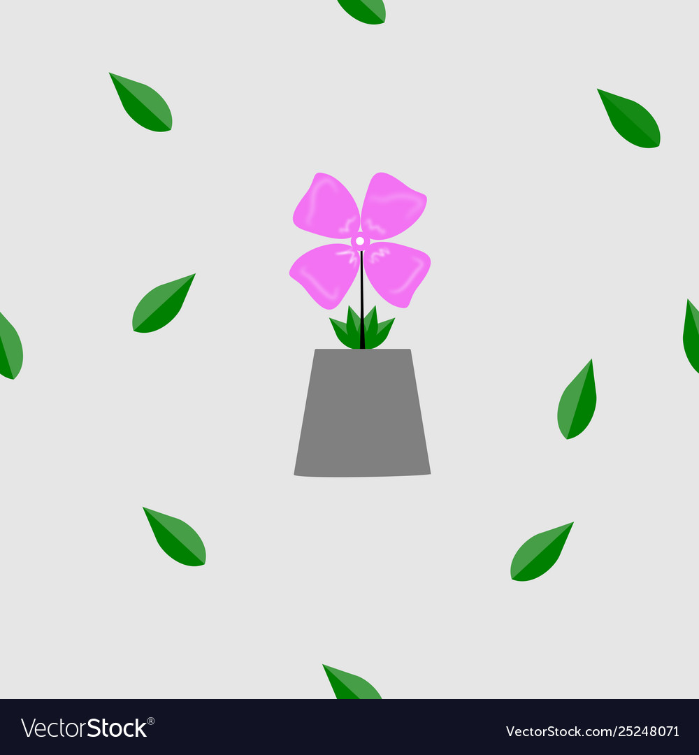 Cute floral pattern pink flower and leaf texture