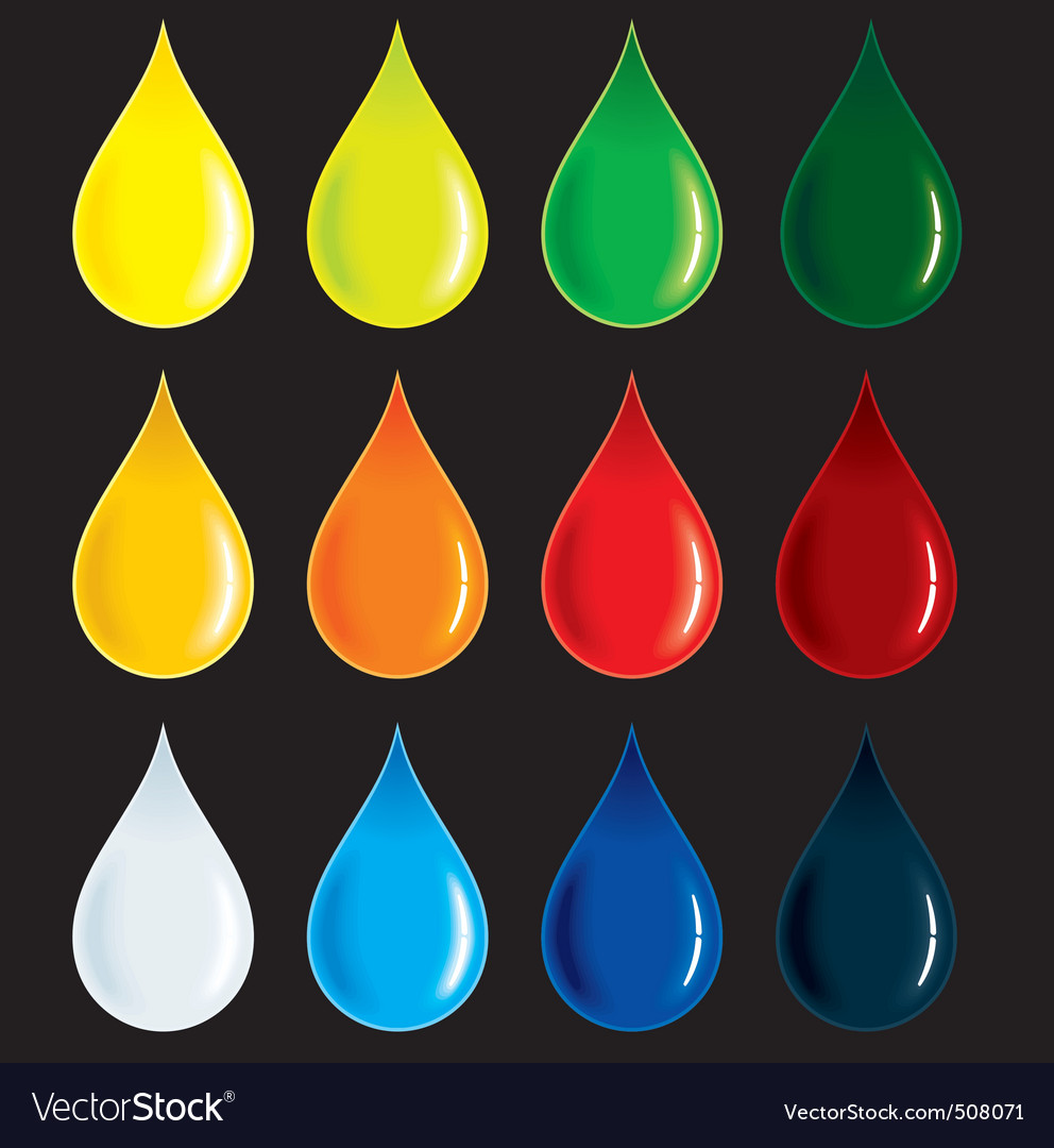 blood drop vector. Glossy Colorful Drops Vector