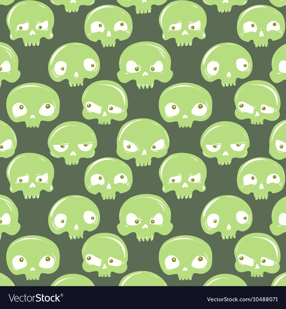 Green skulls pattern