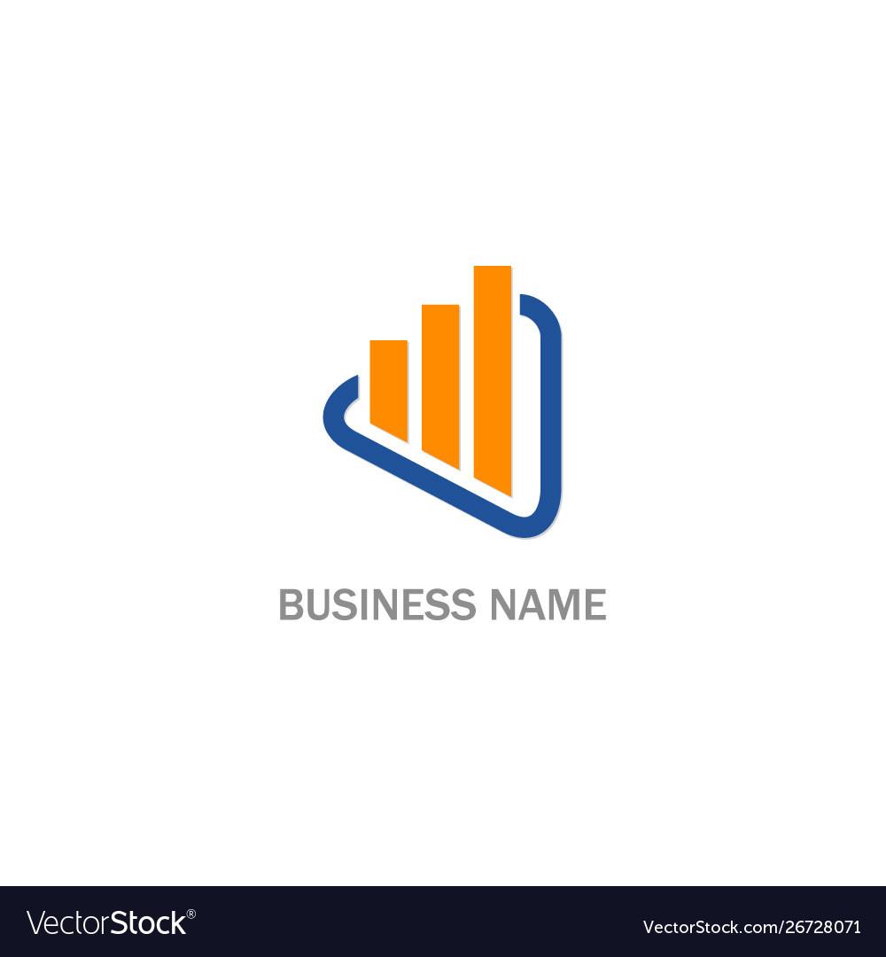 Line graph progress business company logo