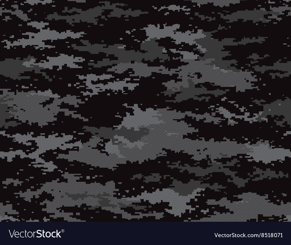 Pixel camouflage stealth black seamless pattern