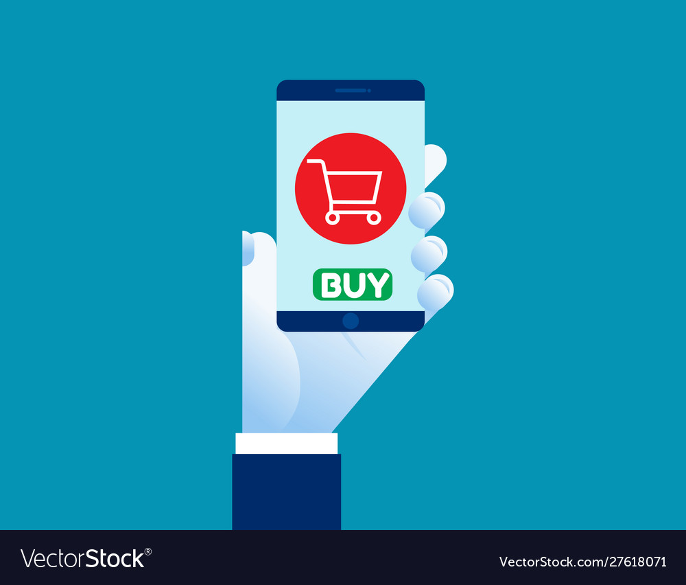 Smartphone online shopping concept shopping
