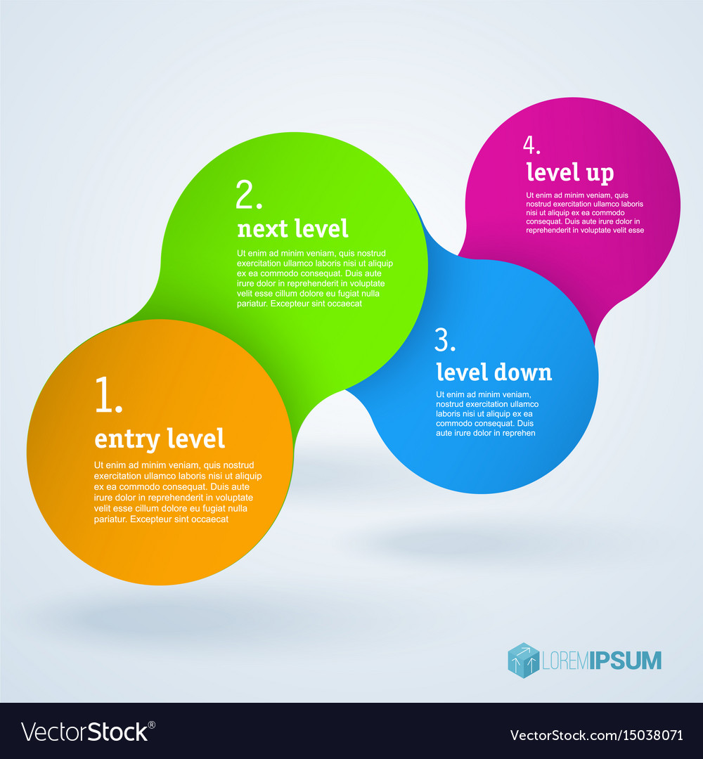 Step by step infographic presentation template