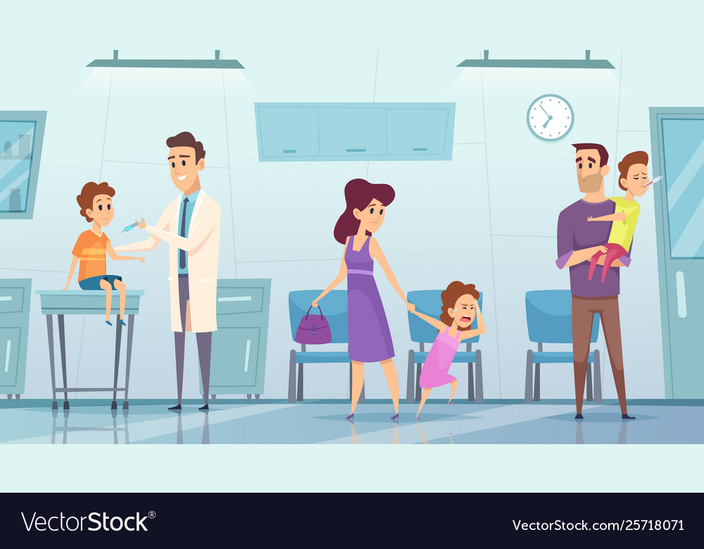 Vaccination in clinic medical background picture