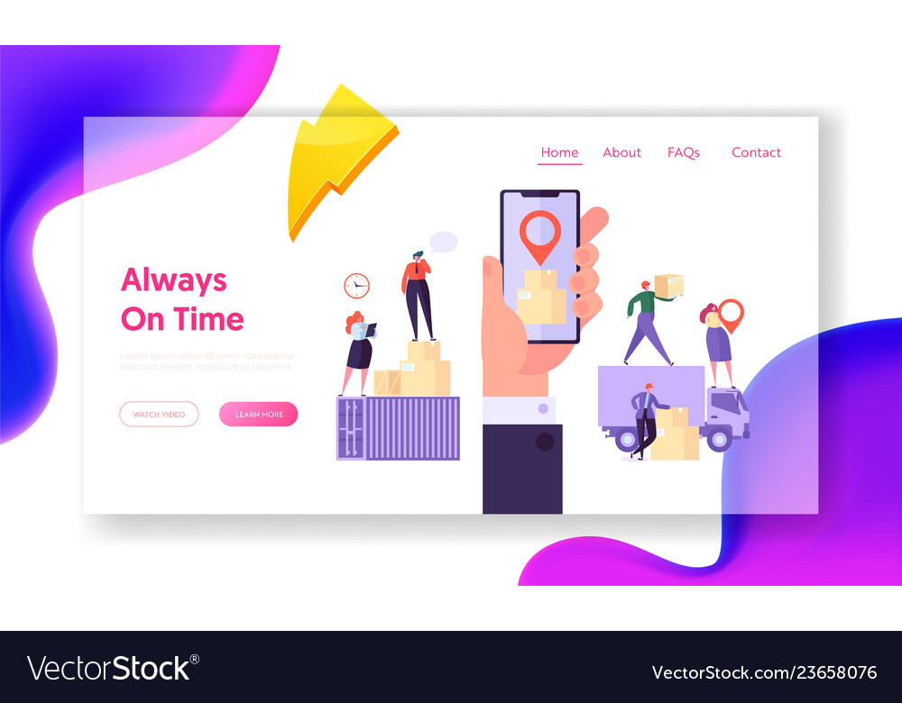 Always on time concept website template