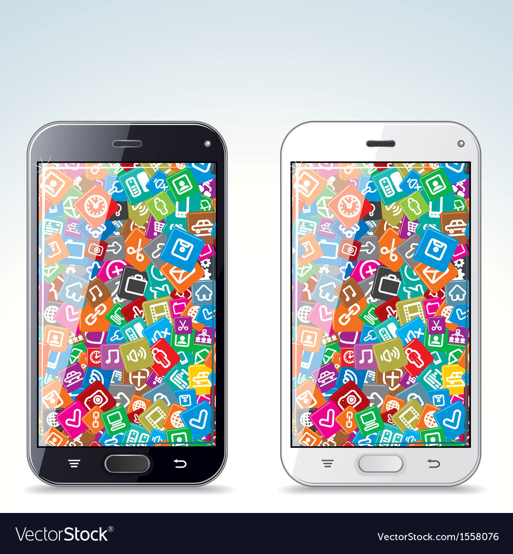 Black and White Modern Smart Phone