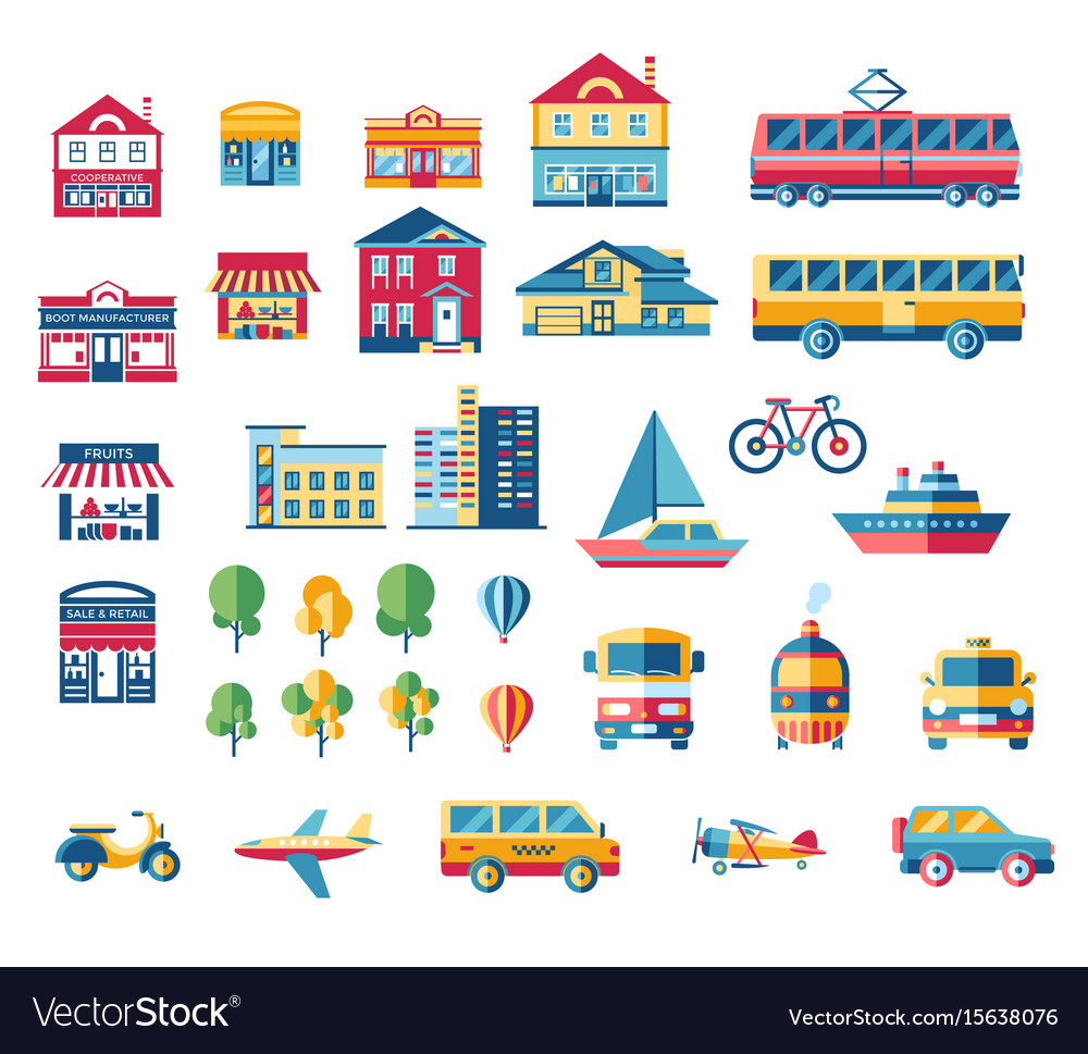 Digital blue red city vector image