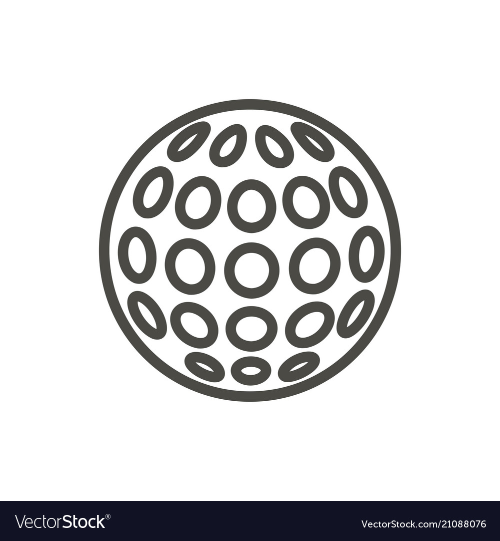 Golf ball icon line relaxation game symbol