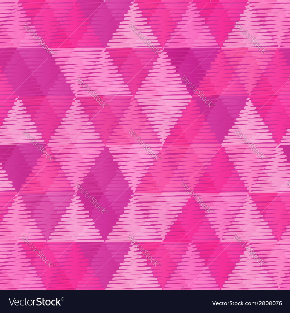 Pink vintage textile triangles seamless pattern