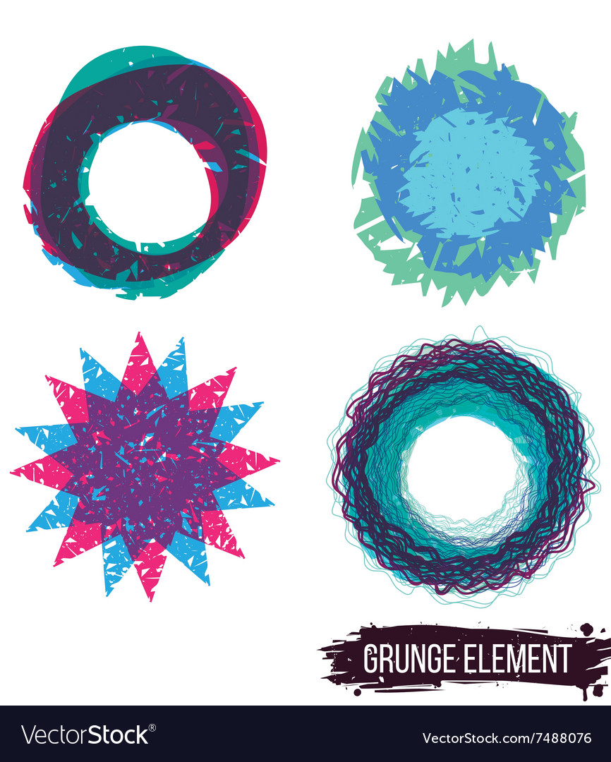 Set color grunge design element