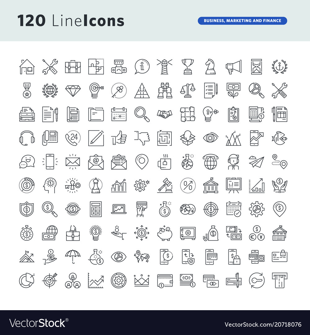 Set premium concept icons