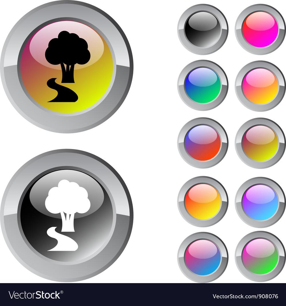 Tree multicolor round button