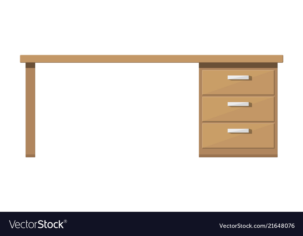 Wooden desk with drawer brown table with lockers