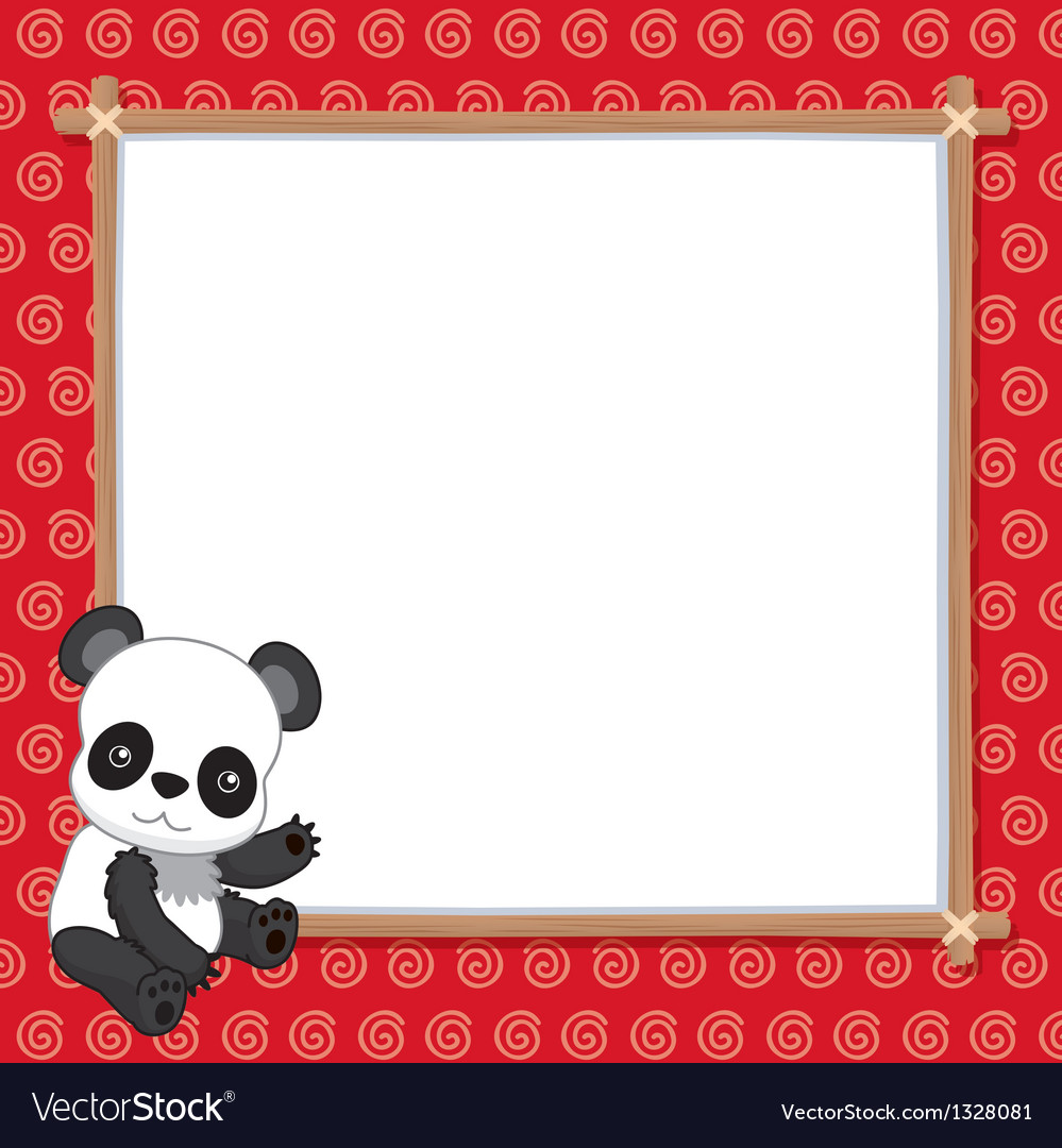 A panda with white blank