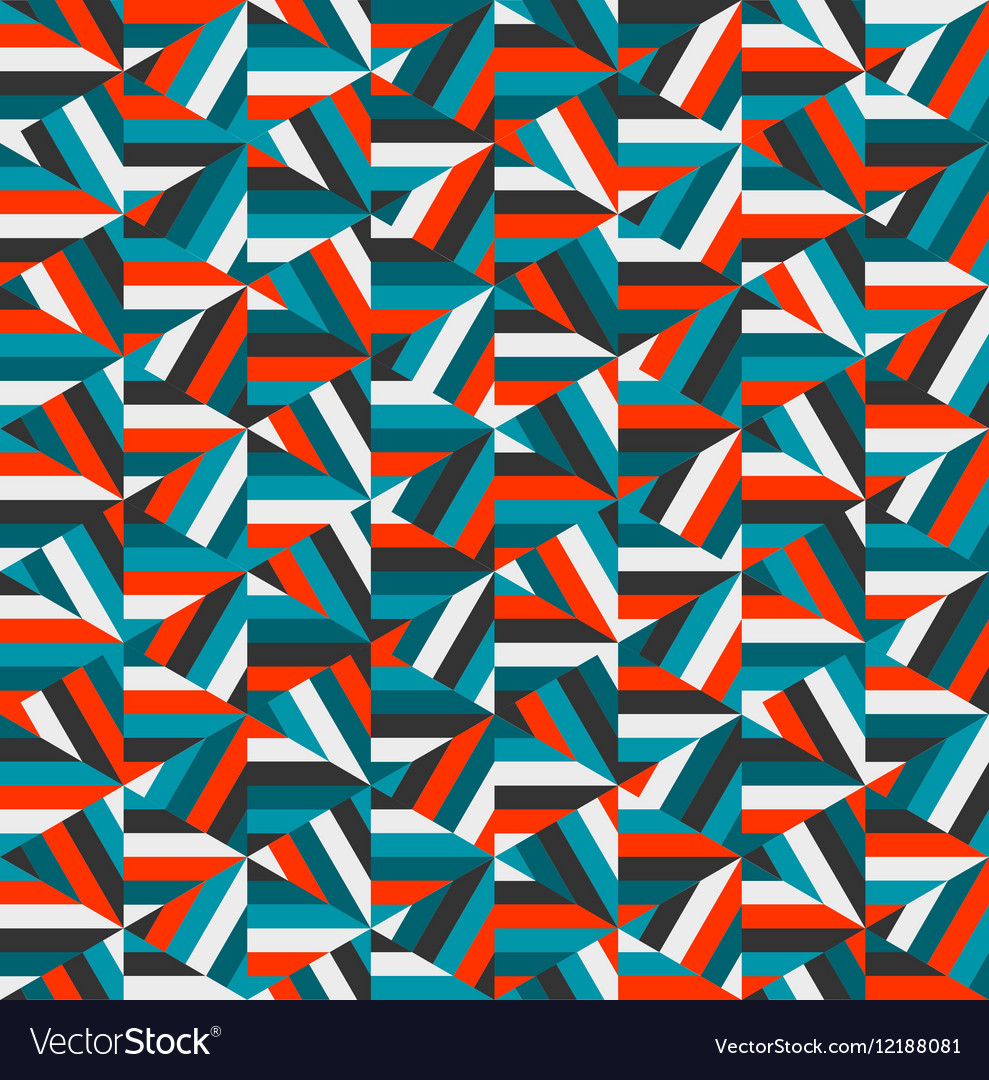 Blue Red Triangle Random Stripes Geometric vector image