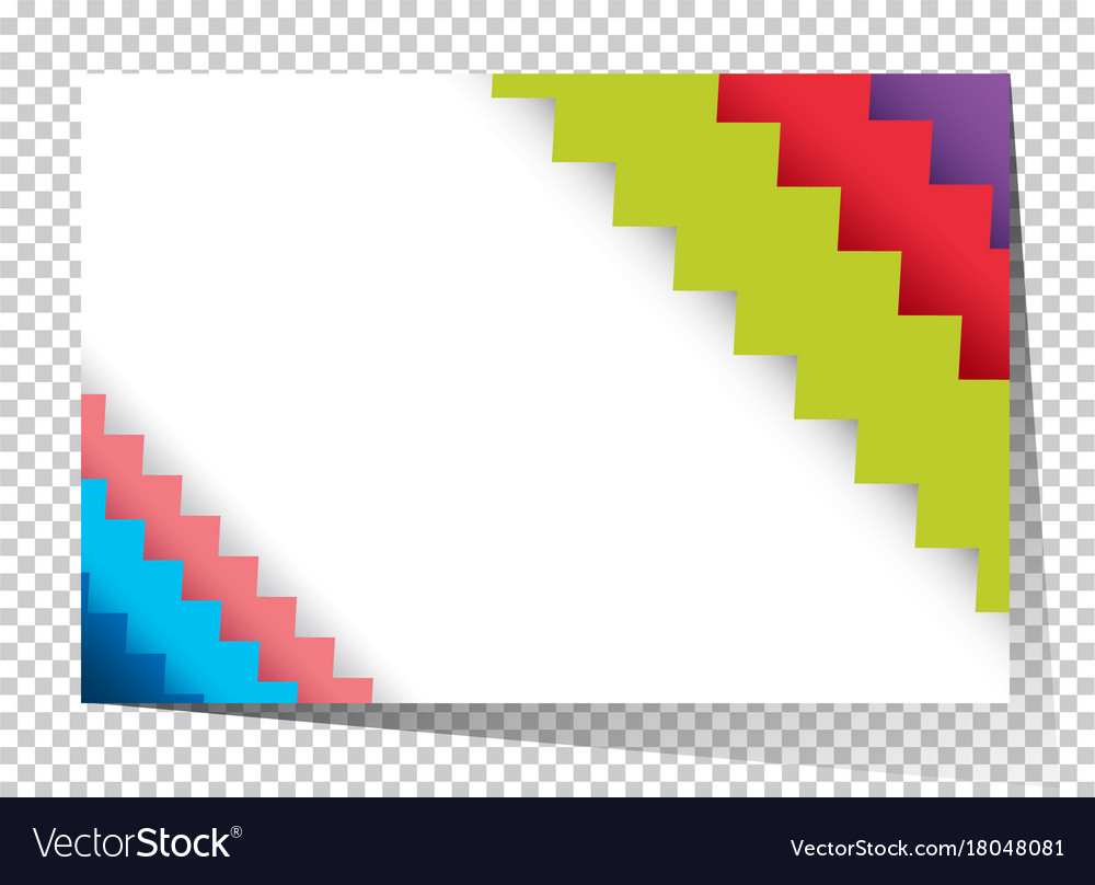 businesscard template with colorful zigzag lines vector image