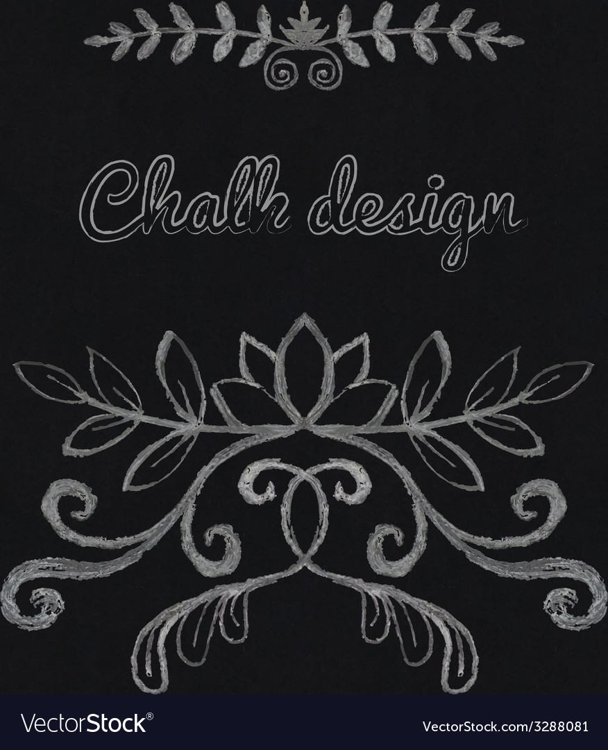 Chalk floral ornament