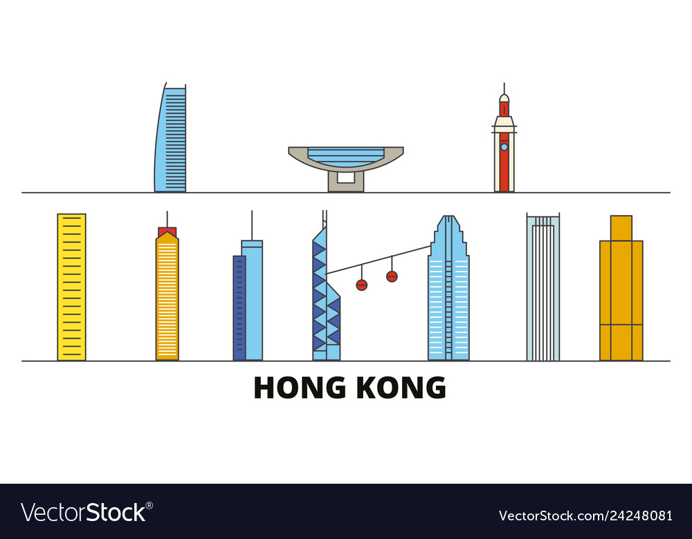 China hong kong flat landmarks