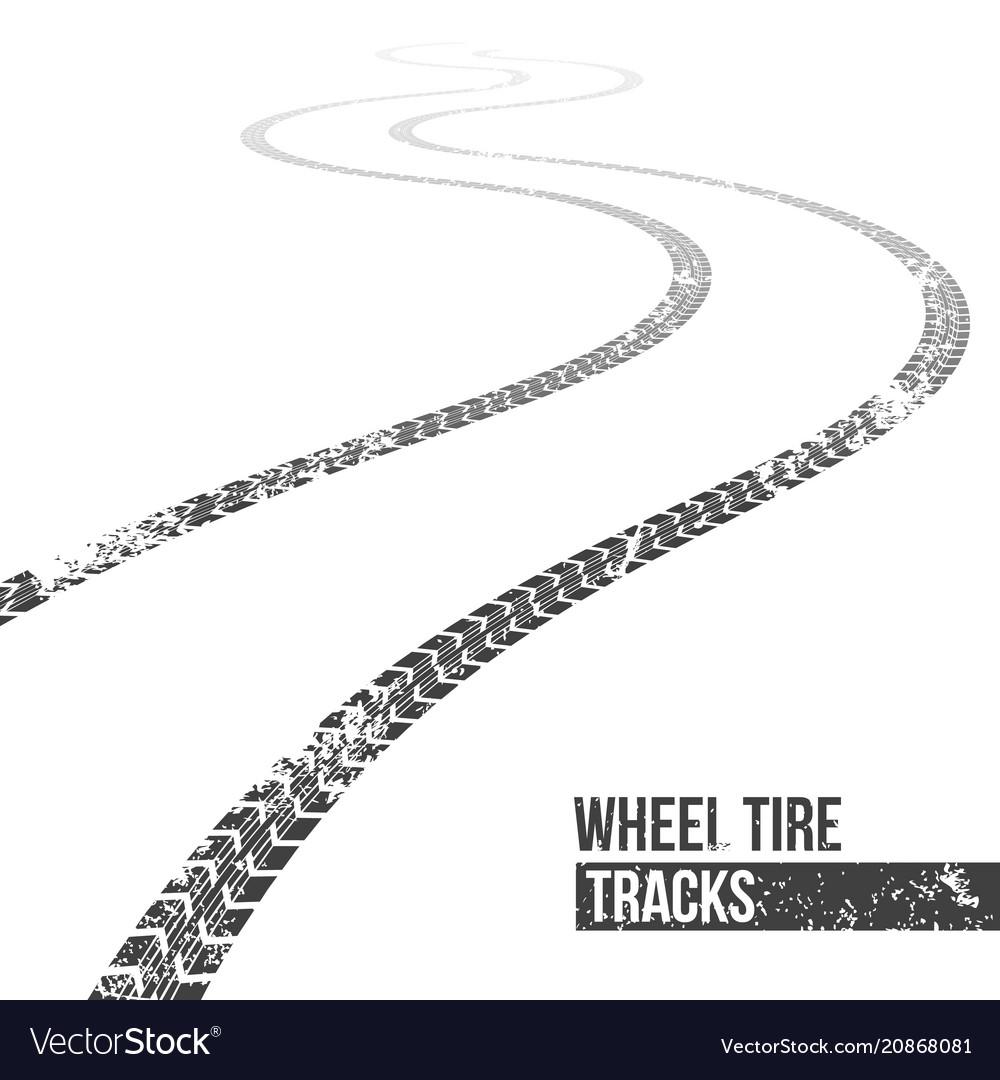Creative of wheel tire tracks