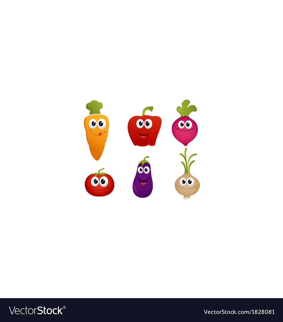 Funny cartoon vegetable
