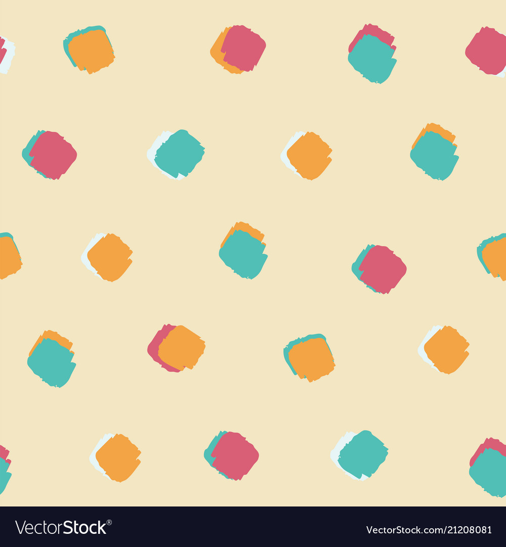 Ink brush square dot pattern seamless background