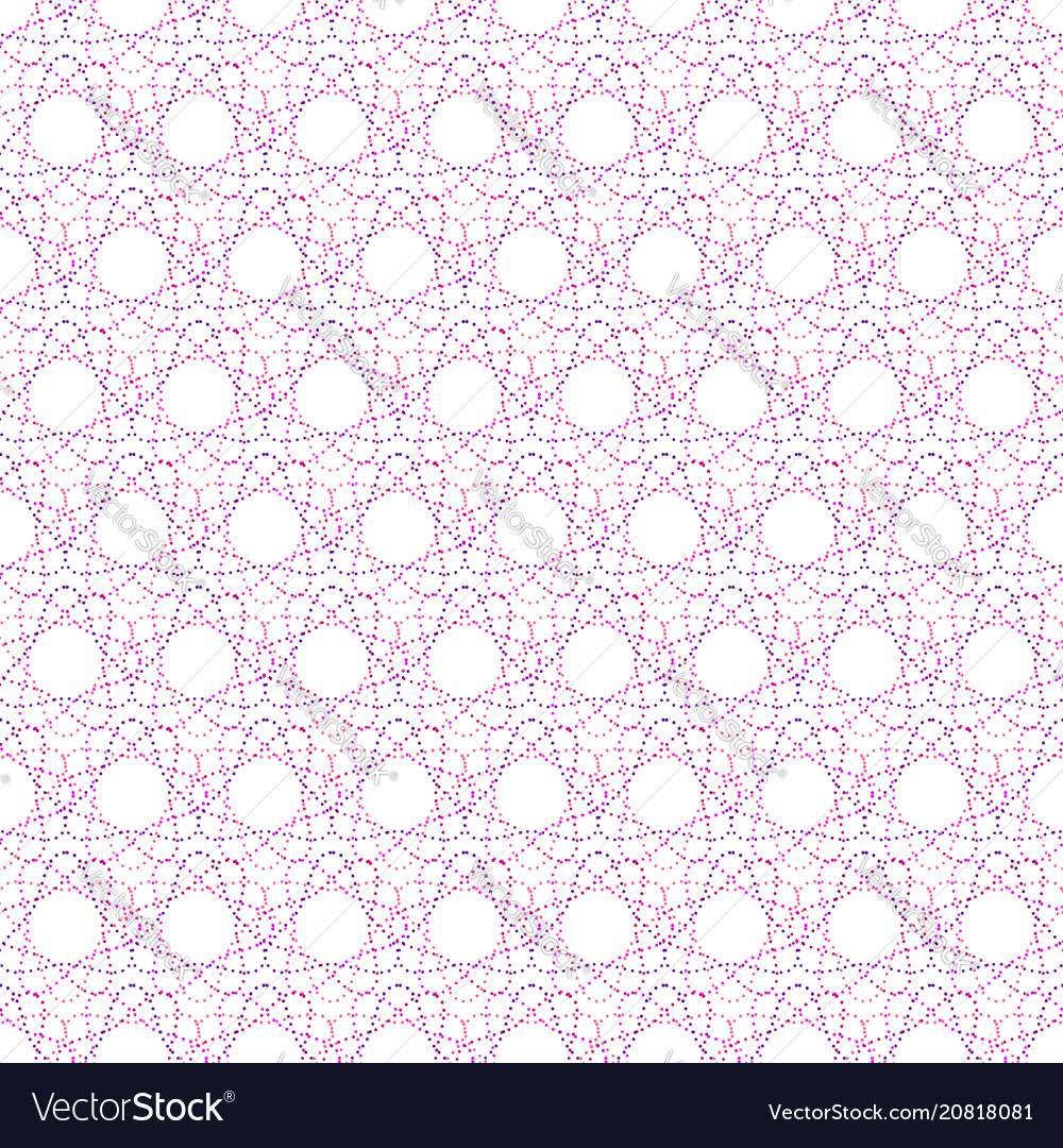 Seamless pattern of geometric colored shapes