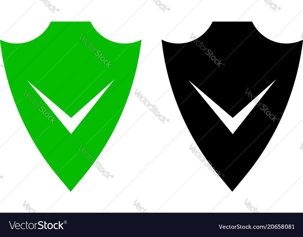 Shield flat icon vector image
