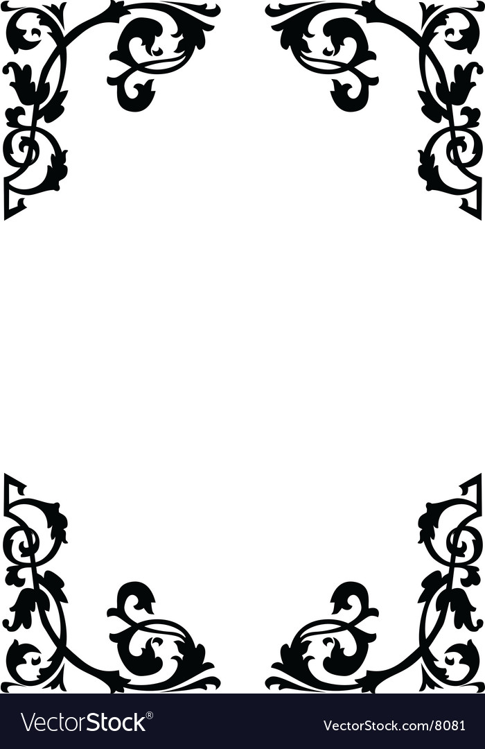 Victorian Ornamental Page Borders Vector Image