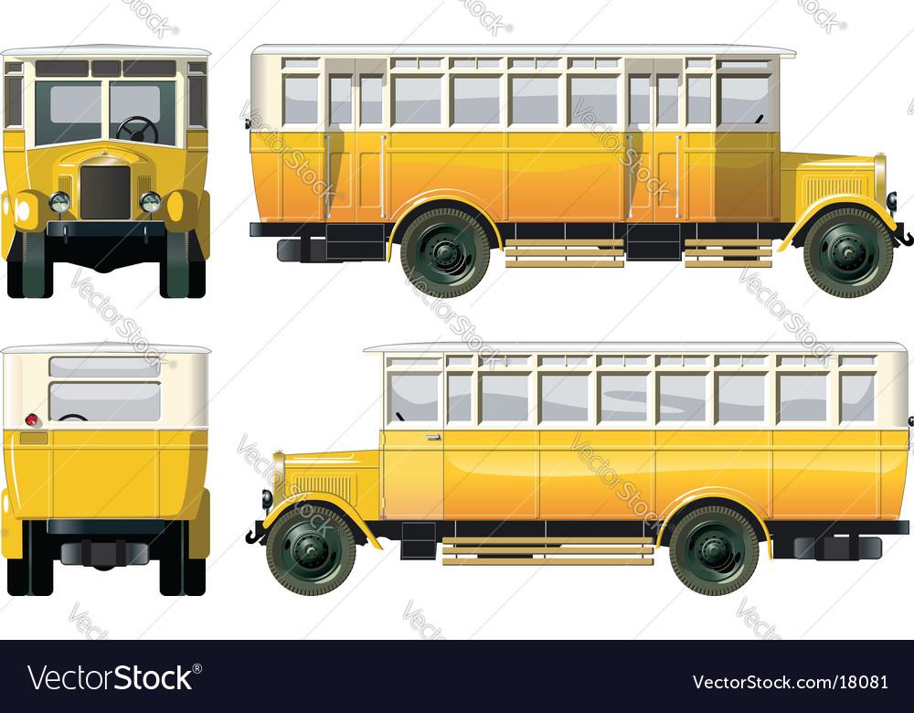 Vintage city bus 30-s