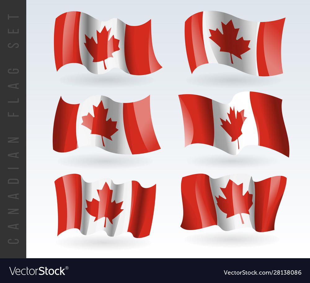 3d waving flag canada isolated on white