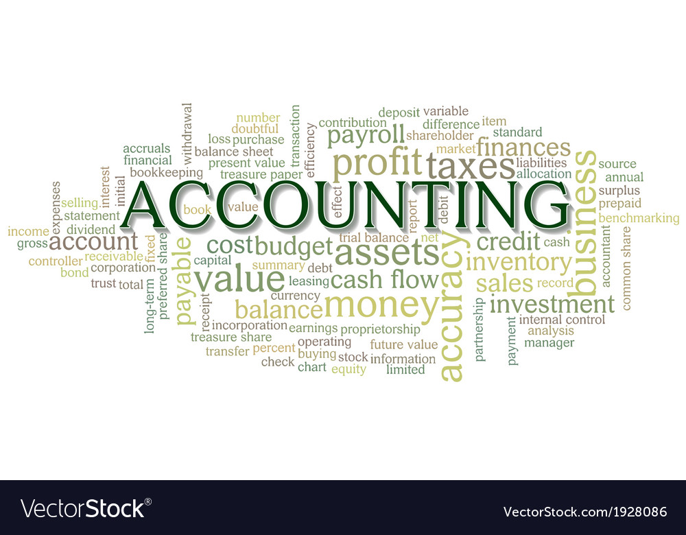 accounting word cloud word bubble tags royalty free vector