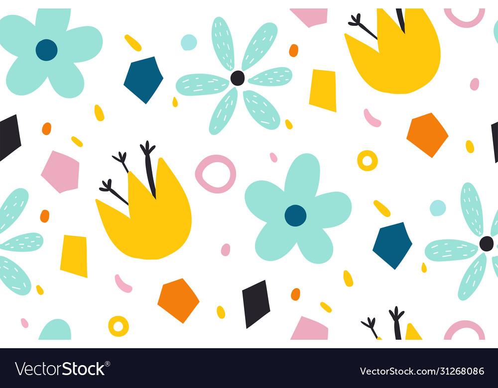 Cartoon background for kids seamless pattern