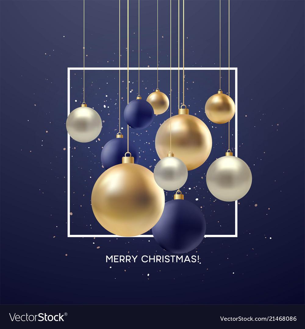 Christmas greeting card design of xmas black