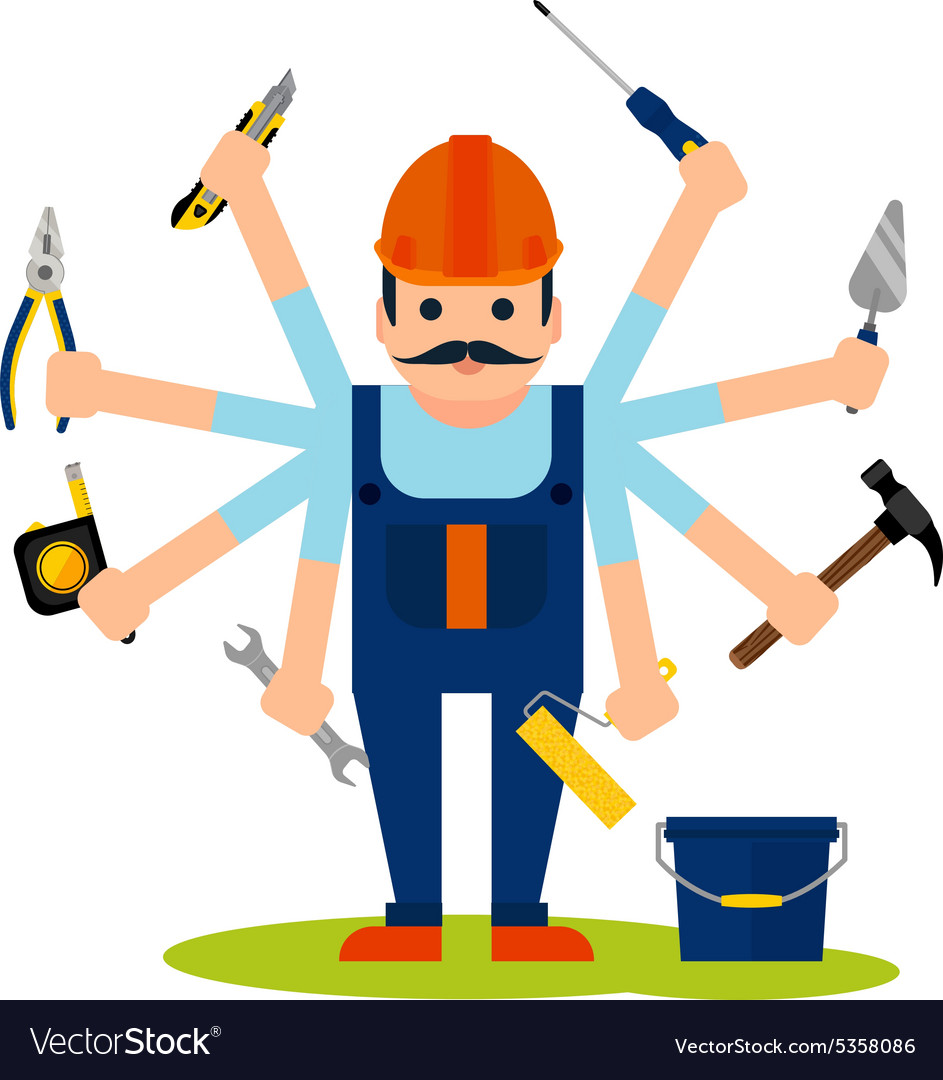 Concept of handyman worker